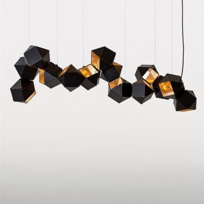 1131/142/14C Colosseo LUX Светильник подвесной CubismoПодвесные<br>Длина: 142 см<br>Материал: Металл<br>Тип ламп: E14<br>Количество: 14<br><br>S освещ. до, м2: 42<br>Тип лампы: Накаливания / энергосбережения / светодиодная<br>Тип цоколя: E14<br>Количество ламп: 14<br>MAX мощность ламп, Вт: 60<br>Длина, мм: 1420<br>Цвет арматуры: черный