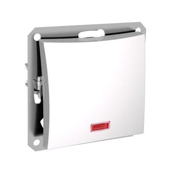 Lexel Дуэт белый Одноклавишный выключатель (сх.1) с подсветкой (SE WDE000113)Белый<br><br><br>Оттенок (цвет): белый