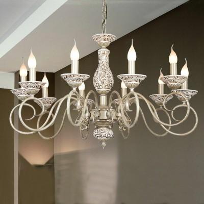 Люстра Favourite 1141-10pПодвесные<br>Сложно пройти равнодушно мимо потрясающей красоты подвесной люстры Favourite 1141-10р! Выполненная в «классическом» стиле, она представляет собой его «праздничный», «нарядный» вариант. Конструкция в виде подсвечника с открытыми плафонами для лампочек типа «свеча» или  «свеча на ветру» украшена гипсовым орнаментом, рисунок которого «перекликается» с плавными, изящными линиями арматуры. Белый цвет придает люстре «воздушность» и элегантную красоту. 10 плафонов создают яркое освещение на площади до 40 кв.м., поэтому «выигрышней» всего светильник будет смотреться в большой комнате, например, зале, холле, кухне-столовой и т.п. Рекомендуем Вам использовать в качестве подсветки комплект настенных бра из этой же серии, тогда интерьер станет по-настоящему стильным, уютным и совершенным.<br><br>Установка на натяжной потолок: Да<br>S освещ. до, м2: 40<br>Крепление: Крюк<br>Тип лампы: накаливания / энергосбережения / LED-светодиодная<br>Тип цоколя: E14<br>Количество ламп: 10<br>MAX мощность ламп, Вт: 60<br>Диаметр, мм мм: 850<br>Размеры: D850*H530/1600<br>Высота, мм: 530 - 1600<br>Цвет арматуры: белый