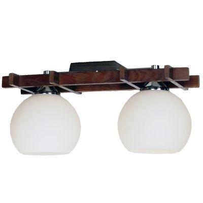 Citilux Нарита CL114121 ЛюстраПотолочные<br>Восточный стиль светового оформления интерьера характеризуется не только присущим ему колоритом и самобытным дизайном, но и использованием натуральных природных материалов. Поэтому арматура и крепление потолочного светильника Citilux CL114121 Нарита выполнено из массива дуба, что в сочетании с белыми матовыми плафонами создает неповторимый, элегантный и запоминающийся образ. Он идеально подойдет в любую по функциональному назначению комнату, а также прекрасно впишется в интерьер кафе или ресторана, наполнив его уютом и «теплой», спокойной атмосферой. В качестве дополнительной подсветки рекомендуем<br><br>Установка на натяжной потолок: Ограничено<br>S освещ. до, м2: 13<br>Крепление: Планка<br>Тип лампы: накаливания / энергосбережения / LED-светодиодная<br>Тип цоколя: E27<br>Количество ламп: 2<br>Ширина, мм: 160<br>MAX мощность ламп, Вт: 100<br>Размеры: Длина 40см, Ширина 16см, Высота  19см, деревянные части - массив дуба.<br>Длина, мм: 400<br>Высота, мм: 190<br>Поверхность арматуры: матовый<br>Цвет арматуры: серебристый хром, венге