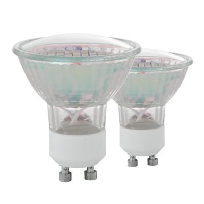 Купить Eglo 11427 Лампа светодиодная SMD, 2х3W (GU10), 3000K, 240lm, 2 шт. в комплекте, Венгрия