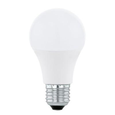 Eglo 11476 Лампа светодиодная A60, 5,5W (Е27), 3000K, 470lmСтандартный вид<br>В интернет-магазине «Светодом» можно купить не только люстры и светильники, но и лампочки. В нашем каталоге представлены светодиодные, галогенные, энергосберегающие модели и лампы накаливания. В ассортименте имеются изделия разной мощности, поэтому у нас Вы сможете приобрести все необходимое для освещения.   Лампа Eglo 11476 A60, 5,5W (Е27), 3000K, 470lm обеспечит отличное качество освещения. При покупке ознакомьтесь с параметрами в разделе «Характеристики», чтобы не ошибиться в выборе. Там же указано, для каких осветительных приборов Вы можете использовать лампу Eglo 11476 A60, 5,5W (Е27), 3000K, 470lmEglo 11476 A60, 5,5W (Е27), 3000K, 470lm.   Для оформления покупки воспользуйтесь «Корзиной». При наличии вопросов Вы можете позвонить нашим менеджерам по одному из контактных номеров. Мы доставляем заказы в Москву, Екатеринбург и другие города России.<br><br>Цветовая t, К: 3000<br>Тип лампы: LED<br>Тип цоколя: E27<br>MAX мощность ламп, Вт: 5.5<br>Диаметр, мм мм: 60<br>Высота, мм: 109