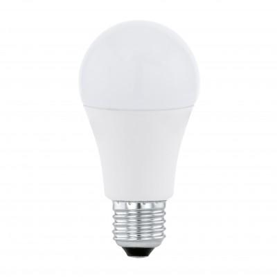 Eglo 11478 Лампа светодиодная A60Стандартный вид<br>В интернет-магазине «Светодом» можно купить не только люстры и светильники, но и лампочки. В нашем каталоге представлены светодиодные, галогенные, энергосберегающие модели и лампы накаливания. В ассортименте имеются изделия разной мощности, поэтому у нас Вы сможете приобрести все необходимое для освещения.   Лампа Eglo 11478 A60 обеспечит отличное качество освещения. При покупке ознакомьтесь с параметрами в разделе «Характеристики», чтобы не ошибиться в выборе. Там же указано, для каких осветительных приборов Вы можете использовать лампу Eglo 11478 A60Eglo 11478 A60.   Для оформления покупки воспользуйтесь «Корзиной». При наличии вопросов Вы можете позвонить нашим менеджерам по одному из контактных номеров. Мы доставляем заказы в Москву, Екатеринбург и другие города России.<br><br>Цветовая t, К: WW - теплый белый 2700-3000 К<br>Тип лампы: LED - светодиодная<br>Тип цоколя: E27<br>MAX мощность ламп, Вт: 12<br>Диаметр, мм мм: 60<br>Длина, мм: 109
