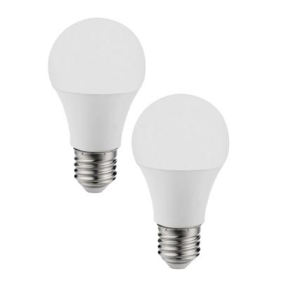 Eglo 11486 Лампа светодиодная A60, 2х11W (Е27), 4000K, 1055lm, 2 шт. в комплектеСтандартный вид<br><br><br>Цветовая t, К: 4000<br>Тип лампы: LED<br>Тип цоколя: E27<br>Количество ламп: 2<br>MAX мощность ламп, Вт: 12<br>Диаметр, мм мм: 60<br>Высота, мм: 115