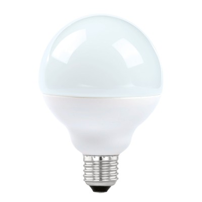 Eglo 11487 Лампа светодиодная G90, 12W (Е27), 3000K, 1055lmВ виде шара<br><br><br>Цветовая t, К: 3000<br>Тип лампы: LED<br>Тип цоколя: E27<br>Диаметр, мм мм: 90<br>Высота, мм: 127<br>MAX мощность ламп, Вт: 12