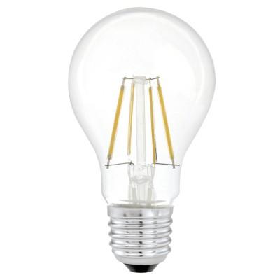 Eglo 11491 Лампа светодиодная филаментная A60Filament LED<br>В интернет-магазине «Светодом» можно купить не только люстры и светильники, но и лампочки. В нашем каталоге представлены светодиодные, галогенные, энергосберегающие модели и лампы накаливания. В ассортименте имеются изделия разной мощности, поэтому у нас Вы сможете приобрести все необходимое для освещения.   Лампа Eglo 11491 филаментная A60 обеспечит отличное качество освещения. При покупке ознакомьтесь с параметрами в разделе «Характеристики», чтобы не ошибиться в выборе. Там же указано, для каких осветительных приборов Вы можете использовать лампу Eglo 11491 филаментная A60Eglo 11491 филаментная A60.   Для оформления покупки воспользуйтесь «Корзиной». При наличии вопросов Вы можете позвонить нашим менеджерам по одному из контактных номеров. Мы доставляем заказы в Москву, Екатеринбург и другие города России.<br><br>Цветовая t, К: WW - теплый белый 2700-3000 К<br>Тип лампы: LED - светодиодная<br>Тип цоколя: E27<br>Диаметр, мм мм: 60<br>Длина, мм: 107<br>MAX мощность ламп, Вт: 4