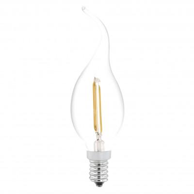 Eglo 11493 Лампа светодиодная филаментнаяCвеча на ветруFilament LED<br>В интернет-магазине «Светодом» можно купить не только люстры и светильники, но и лампочки. В нашем каталоге представлены светодиодные, галогенные, энергосберегающие модели и лампы накаливания. В ассортименте имеются изделия разной мощности, поэтому у нас Вы сможете приобрести все необходимое для освещения.   Лампа Eglo 11493 филаментнаяCвеча на ветру обеспечит отличное качество освещения. При покупке ознакомьтесь с параметрами в разделе «Характеристики», чтобы не ошибиться в выборе. Там же указано, для каких осветительных приборов Вы можете использовать лампу Eglo 11493 филаментнаяCвеча на ветруEglo 11493 филаментнаяCвеча на ветру.   Для оформления покупки воспользуйтесь «Корзиной». При наличии вопросов Вы можете позвонить нашим менеджерам по одному из контактных номеров. Мы доставляем заказы в Москву, Екатеринбург и другие города России.<br><br>Цветовая t, К: WW - теплый белый 2700-3000 К<br>Тип лампы: LED - светодиодная<br>Тип цоколя: E14<br>MAX мощность ламп, Вт: 2<br>Диаметр, мм мм: 37<br>Длина, мм: 121