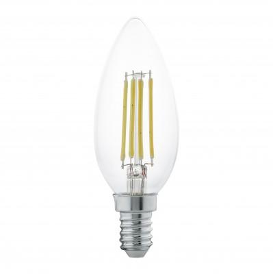 Eglo 11496 Лампа светодиодная филаментная CвечаFilament LED<br>В интернет-магазине «Светодом» можно купить не только люстры и светильники, но и лампочки. В нашем каталоге представлены светодиодные, галогенные, энергосберегающие модели и лампы накаливания. В ассортименте имеются изделия разной мощности, поэтому у нас Вы сможете приобрести все необходимое для освещения.   Лампа Eglo 11496 филаментная Cвеча обеспечит отличное качество освещения. При покупке ознакомьтесь с параметрами в разделе «Характеристики», чтобы не ошибиться в выборе. Там же указано, для каких осветительных приборов Вы можете использовать лампу Eglo 11496 филаментная CвечаEglo 11496 филаментная Cвеча.   Для оформления покупки воспользуйтесь «Корзиной». При наличии вопросов Вы можете позвонить нашим менеджерам по одному из контактных номеров. Мы доставляем заказы в Москву, Екатеринбург и другие города России.<br><br>Цветовая t, К: WW - теплый белый 2700-3000 К<br>Тип лампы: LED - светодиодная<br>Тип цоколя: E14<br>MAX мощность ламп, Вт: 4<br>Диаметр, мм мм: 35<br>Длина, мм: 105