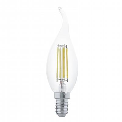 Eglo 11497 Лампа светодиодная филаментная Свеча на ветруFilament LED<br>В интернет-магазине «Светодом» можно купить не только люстры и светильники, но и лампочки. В нашем каталоге представлены светодиодные, галогенные, энергосберегающие модели и лампы накаливания. В ассортименте имеются изделия разной мощности, поэтому у нас Вы сможете приобрести все необходимое для освещения.   Лампа Eglo 11497 филаментная Свеча на ветру обеспечит отличное качество освещения. При покупке ознакомьтесь с параметрами в разделе «Характеристики», чтобы не ошибиться в выборе. Там же указано, для каких осветительных приборов Вы можете использовать лампу Eglo 11497 филаментная Свеча на ветруEglo 11497 филаментная Свеча на ветру.   Для оформления покупки воспользуйтесь «Корзиной». При наличии вопросов Вы можете позвонить нашим менеджерам по одному из контактных номеров. Мы доставляем заказы в Москву, Екатеринбург и другие города России.<br><br>Цветовая t, К: WW - теплый белый 2700-3000 К<br>Тип лампы: LED - светодиодная<br>Тип цоколя: E14<br>Диаметр, мм мм: 35<br>Длина, мм: 121<br>MAX мощность ламп, Вт: 4