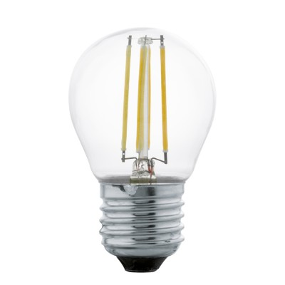 Eglo 11498 Лампа светодиодная филаментная G45, 4W (E27), 2700K, 350lm, прозрачныйСтандартный вид<br><br><br>Цветовая t, К: 2700<br>Тип лампы: LED<br>Тип цоколя: E27<br>MAX мощность ламп, Вт: 4<br>Диаметр, мм мм: 45<br>Высота, мм: 73