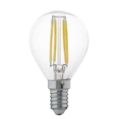 Eglo 11499 Лампа светодиодная филаментная P45, 4W (E14), 2700K, 350lm, прозрачныйСтандартный вид<br><br><br>Цветовая t, К: 2700<br>Тип лампы: LED<br>Тип цоколя: E14<br>MAX мощность ламп, Вт: 4<br>Диаметр, мм мм: 45<br>Высота, мм: 77