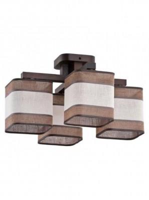 Люстра потолочная 114 Ibis Venge 4 TK LightingПотолочные<br><br><br>Установка на натяжной потолок: да<br>S освещ. до, м2: 12<br>Крепление: планка<br>Тип цоколя: E27<br>Цвет арматуры: венге<br>Количество ламп: 4<br>Ширина, мм: 480<br>Высота, мм: 270<br>Оттенок (цвет): коричневый венге<br>MAX мощность ламп, Вт: 60