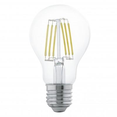 Eglo 11501 Лампа светодиодная филаментная A60Filament LED<br>В интернет-магазине «Светодом» можно купить не только люстры и светильники, но и лампочки. В нашем каталоге представлены светодиодные, галогенные, энергосберегающие модели и лампы накаливания. В ассортименте имеются изделия разной мощности, поэтому у нас Вы сможете приобрести все необходимое для освещения.   Лампа Eglo 11501 филаментная A60 обеспечит отличное качество освещения. При покупке ознакомьтесь с параметрами в разделе «Характеристики», чтобы не ошибиться в выборе. Там же указано, для каких осветительных приборов Вы можете использовать лампу Eglo 11501 филаментная A60Eglo 11501 филаментная A60.   Для оформления покупки воспользуйтесь «Корзиной». При наличии вопросов Вы можете позвонить нашим менеджерам по одному из контактных номеров. Мы доставляем заказы в Москву, Екатеринбург и другие города России.<br><br>Цветовая t, К: WW - теплый белый 2700-3000 К<br>Тип лампы: LED - светодиодная<br>Тип цоколя: E27<br>Диаметр, мм мм: 60<br>Длина, мм: 107<br>MAX мощность ламп, Вт: 6