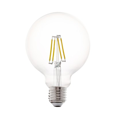 Eglo 11502 Лампа светодиодная филаментная G95, 4W (E27), 2700K, 350lm, прозрачныйВ виде шара<br><br><br>Цветовая t, К: 2700<br>Тип лампы: LED<br>Тип цоколя: E27<br>MAX мощность ламп, Вт: 4<br>Диаметр, мм мм: 95<br>Высота, мм: 118