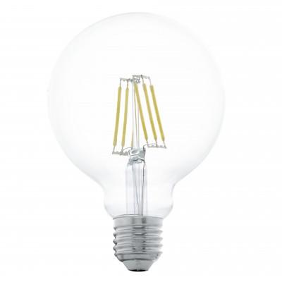 Eglo 11503 Лампа светодиодная филаментная G95В виде шара<br>В интернет-магазине «Светодом» можно купить не только люстры и светильники, но и лампочки. В нашем каталоге представлены светодиодные, галогенные, энергосберегающие модели и лампы накаливания. В ассортименте имеются изделия разной мощности, поэтому у нас Вы сможете приобрести все необходимое для освещения.   Лампа Eglo 11503 филаментная G95 обеспечит отличное качество освещения. При покупке ознакомьтесь с параметрами в разделе «Характеристики», чтобы не ошибиться в выборе. Там же указано, для каких осветительных приборов Вы можете использовать лампу Eglo 11503 филаментная G95Eglo 11503 филаментная G95.   Для оформления покупки воспользуйтесь «Корзиной». При наличии вопросов Вы можете позвонить нашим менеджерам по одному из контактных номеров. Мы доставляем заказы в Москву, Екатеринбург и другие города России.<br><br>Цветовая t, К: WW - теплый белый 2700-3000 К<br>Тип лампы: LED - светодиодная<br>Тип цоколя: E27<br>MAX мощность ламп, Вт: 6<br>Диаметр, мм мм: 95<br>Длина, мм: 118