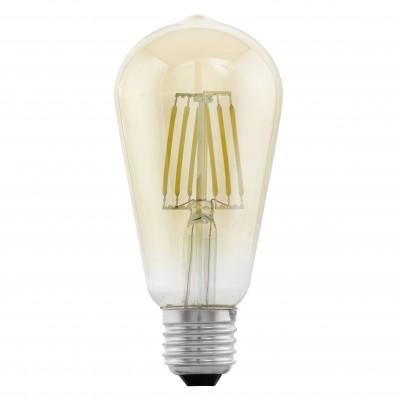 Eglo 11521 Лампа светодиодная филаментная ST64 (янтарь)Ретро стиля<br>В интернет-магазине «Светодом» можно купить не только люстры и светильники, но и лампочки. В нашем каталоге представлены светодиодные, галогенные, энергосберегающие модели и лампы накаливания. В ассортименте имеются изделия разной мощности, поэтому у нас Вы сможете приобрести все необходимое для освещения.   Лампа Eglo 11521 филаментная ST64 (янтарь) обеспечит отличное качество освещения. При покупке ознакомьтесь с параметрами в разделе «Характеристики», чтобы не ошибиться в выборе. Там же указано, для каких осветительных приборов Вы можете использовать лампу Eglo 11521 филаментная ST64 (янтарь)Eglo 11521 филаментная ST64 (янтарь).   Для оформления покупки воспользуйтесь «Корзиной». При наличии вопросов Вы можете позвонить нашим менеджерам по одному из контактных номеров. Мы доставляем заказы в Москву, Екатеринбург и другие города России.<br><br>Цветовая t, К: WW - теплый белый 2700-3000 К<br>Тип лампы: LED - светодиодная<br>Тип цоколя: E27<br>MAX мощность ламп, Вт: 4<br>Диаметр, мм мм: 64<br>Длина, мм: 140