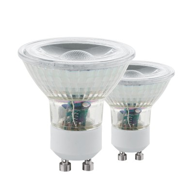 Eglo 11527 Лампа светодиодная СOB, 2х3,3W (GU10), 4000K, 240Lm, 2 шт. в комплектеЗеркальные Gu10<br><br><br>Цветовая t, К: 4000<br>Тип лампы: LED<br>Тип цоколя: GU10<br>Количество ламп: 2<br>MAX мощность ламп, Вт: 3.3<br>Диаметр, мм мм: 50<br>Высота, мм: 54