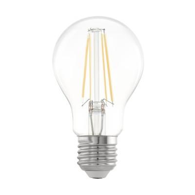 Eglo 11534 Лампа светодиодная филаментная A60, 6,5W (E27), 2700K, 810lm, прозрачныйСтандартный вид<br>В интернет-магазине «Светодом» можно купить не только люстры и светильники, но и лампочки. В нашем каталоге представлены светодиодные, галогенные, энергосберегающие модели и лампы накаливания. В ассортименте имеются изделия разной мощности, поэтому у нас Вы сможете приобрести все необходимое для освещения.   Лампа Eglo 11534 филаментная A60, 6,5W (E27), 2700K, 810lm, прозрачный обеспечит отличное качество освещения. При покупке ознакомьтесь с параметрами в разделе «Характеристики», чтобы не ошибиться в выборе. Там же указано, для каких осветительных приборов Вы можете использовать лампу Eglo 11534 филаментная A60, 6,5W (E27), 2700K, 810lm, прозрачныйEglo 11534 филаментная A60, 6,5W (E27), 2700K, 810lm, прозрачный.   Для оформления покупки воспользуйтесь «Корзиной». При наличии вопросов Вы можете позвонить нашим менеджерам по одному из контактных номеров. Мы доставляем заказы в Москву, Екатеринбург и другие города России.<br><br>Цветовая t, К: 2700<br>Тип лампы: LED<br>Тип цоколя: E27<br>Диаметр, мм мм: 60<br>Высота, мм: 107<br>MAX мощность ламп, Вт: 6.5