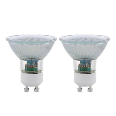 Eglo 11537 Лампа светодиодная SMD, 2х5W (GU10), 3000K, 400lm, 2 шт. в комплектесветодиодные лампы с цоколем Gu10<br>В интернет-магазине «Светодом» можно купить не только люстры и светильники, но и лампочки. В нашем каталоге представлены светодиодные, галогенные, энергосберегающие модели и лампы накаливания. В ассортименте имеются изделия разной мощности, поэтому у нас Вы сможете приобрести все необходимое для освещения.   Лампа Eglo 11537 SMD, 2х5W (GU10), 3000K, 400lm, 2 шт. в комплекте обеспечит отличное качество освещения. При покупке ознакомьтесь с параметрами в разделе «Характеристики», чтобы не ошибиться в выборе. Там же указано, для каких осветительных приборов Вы можете использовать лампу Eglo 11537 SMD, 2х5W (GU10), 3000K, 400lm, 2 шт. в комплектеEglo 11537 SMD, 2х5W (GU10), 3000K, 400lm, 2 шт. в комплекте.   Для оформления покупки воспользуйтесь «Корзиной». При наличии вопросов Вы можете позвонить нашим менеджерам по одному из контактных номеров. Мы доставляем заказы в Москву, Екатеринбург и другие города России.<br><br>Цветовая t, К: WW - теплый белый 2700-3000 К<br>Тип лампы: LED<br>Тип цоколя: GU10<br>Диаметр, мм мм: 56<br>Высота, мм: 58<br>MAX мощность ламп, Вт: 5