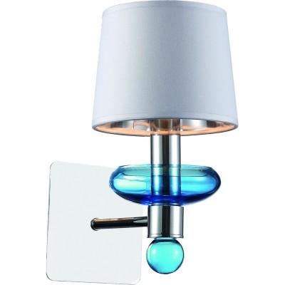 Светильник Divinare 1155/04 AP-1Современные<br><br><br>Тип цоколя: E14<br>Количество ламп: 1<br>Ширина, мм: 150<br>MAX мощность ламп, Вт: 60<br>Диаметр, мм мм: 220<br>Высота, мм: 280<br>Цвет арматуры: хром серебристый/СИНИЙ
