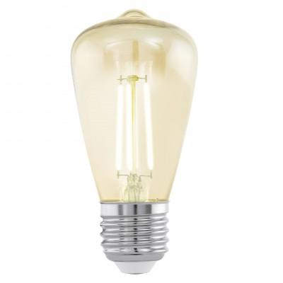 Eglo 11553 Лампа светодиодная филаментная ST48 (янтарь)Ретро стиля<br>В интернет-магазине «Светодом» можно купить не только люстры и светильники, но и лампочки. В нашем каталоге представлены светодиодные, галогенные, энергосберегающие модели и лампы накаливания. В ассортименте имеются изделия разной мощности, поэтому у нас Вы сможете приобрести все необходимое для освещения.   Лампа Eglo 11553 филаментная ST48 (янтарь) обеспечит отличное качество освещения. При покупке ознакомьтесь с параметрами в разделе «Характеристики», чтобы не ошибиться в выборе. Там же указано, для каких осветительных приборов Вы можете использовать лампу Eglo 11553 филаментная ST48 (янтарь)Eglo 11553 филаментная ST48 (янтарь).   Для оформления покупки воспользуйтесь «Корзиной». При наличии вопросов Вы можете позвонить нашим менеджерам по одному из контактных номеров. Мы доставляем заказы в Москву, Екатеринбург и другие города России.<br><br>Цветовая t, К: WW - теплый белый 2700-3000 К<br>Тип лампы: LED - светодиодная<br>Тип цоколя: E27<br>MAX мощность ламп, Вт: 3,5<br>Диаметр, мм мм: 48<br>Длина, мм: 105