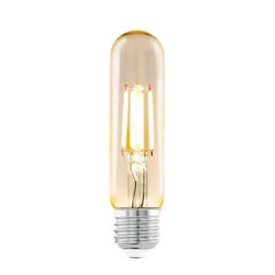 Eglo 11554 Cветодиодная лампа филаментная T32, 1х3,5W (E27), ?48, L105, 2200K, 220lm, янтарьРетро стиля<br>В интернет-магазине «Светодом» можно купить не только люстры и светильники, но и лампочки. В нашем каталоге представлены светодиодные, галогенные, энергосберегающие модели и лампы накаливания. В ассортименте имеются изделия разной мощности, поэтому у нас Вы сможете приобрести все необходимое для освещения.   Лампа Eglo 11554 Cветодиодная T32, 1х3,5W (E27), ?48, L105, 2200K, 220lm, янтарь обеспечит отличное качество освещения. При покупке ознакомьтесь с параметрами в разделе «Характеристики», чтобы не ошибиться в выборе. Там же указано, для каких осветительных приборов Вы можете использовать лампу Eglo 11554 Cветодиодная T32, 1х3,5W (E27), ?48, L105, 2200K, 220lm, янтарьEglo 11554 Cветодиодная T32, 1х3,5W (E27), ?48, L105, 2200K, 220lm, янтарь.   Для оформления покупки воспользуйтесь «Корзиной». При наличии вопросов Вы можете позвонить нашим менеджерам по одному из контактных номеров. Мы доставляем заказы в Москву, Екатеринбург и другие города России.<br><br>Тип цоколя: E27