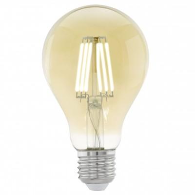 Eglo 11555 Лампа светодиодная филаментная A75 (янтарь)Ретро стиля<br>В интернет-магазине «Светодом» можно купить не только люстры и светильники, но и лампочки. В нашем каталоге представлены светодиодные, галогенные, энергосберегающие модели и лампы накаливания. В ассортименте имеются изделия разной мощности, поэтому у нас Вы сможете приобрести все необходимое для освещения.   Лампа Eglo 11555 филаментная A75 (янтарь) обеспечит отличное качество освещения. При покупке ознакомьтесь с параметрами в разделе «Характеристики», чтобы не ошибиться в выборе. Там же указано, для каких осветительных приборов Вы можете использовать лампу Eglo 11555 филаментная A75 (янтарь)Eglo 11555 филаментная A75 (янтарь).   Для оформления покупки воспользуйтесь «Корзиной». При наличии вопросов Вы можете позвонить нашим менеджерам по одному из контактных номеров. Мы доставляем заказы в Москву, Екатеринбург и другие города России.<br><br>Цветовая t, К: WW - теплый белый 2700-3000 К<br>Тип лампы: LED - светодиодная<br>Тип цоколя: E27<br>MAX мощность ламп, Вт: 4<br>Диаметр, мм мм: 75<br>Длина, мм: 106
