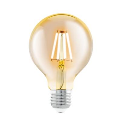 Eglo 11556 Cветодиодная лампа филаментная G80, 1х4W (E27), ?80, L118, 2200K, 330lm, янтарьСветодиодные лампы LED с цоколем E27<br>В интернет-магазине «Светодом» можно купить не только люстры и светильники, но и лампочки. В нашем каталоге представлены светодиодные, галогенные, энергосберегающие модели и лампы накаливания. В ассортименте имеются изделия разной мощности, поэтому у нас Вы сможете приобрести все необходимое для освещения.   Лампа Eglo 11556 Cветодиодная G80, 1х4W (E27), ?80, L118, 2200K, 330lm, янтарь обеспечит отличное качество освещения. При покупке ознакомьтесь с параметрами в разделе «Характеристики», чтобы не ошибиться в выборе. Там же указано, для каких осветительных приборов Вы можете использовать лампу Eglo 11556 Cветодиодная G80, 1х4W (E27), ?80, L118, 2200K, 330lm, янтарьEglo 11556 Cветодиодная G80, 1х4W (E27), ?80, L118, 2200K, 330lm, янтарь.   Для оформления покупки воспользуйтесь «Корзиной». При наличии вопросов Вы можете позвонить нашим менеджерам по одному из контактных номеров. Мы доставляем заказы в Москву, Екатеринбург и другие города России.<br><br>Цветовая t, К: WW - теплый белый 2700-3000 К<br>Тип лампы: LED<br>Тип цоколя: E27<br>Диаметр, мм мм: 80<br>Высота, мм: 118<br>MAX мощность ламп, Вт: 4