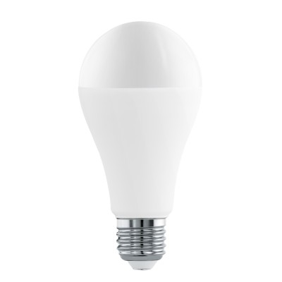 Eglo 11563 Лампа светодиодная A65, 16W (Е27), 3000K, 1521lmСветодиодные лампы LED с цоколем E27<br><br><br>Цветовая t, К: WW - теплый белый 2700-3000 К<br>Тип лампы: LED<br>Тип цоколя: E27<br>Диаметр, мм мм: 65<br>Высота, мм: 130<br>MAX мощность ламп, Вт: 16