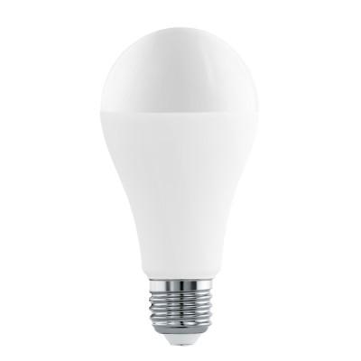 Eglo 11563 Лампа светодиодная A65, 16W (Е27), 3000K, 1521lmСтандартный вид<br><br><br>Цветовая t, К: 3000<br>Тип лампы: LED<br>Тип цоколя: E27<br>MAX мощность ламп, Вт: 16<br>Диаметр, мм мм: 65<br>Высота, мм: 130