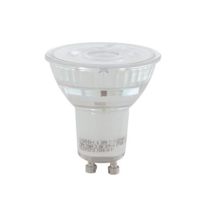 EGLO ИС 11576 Лампа светодиодная диммируемая COB, 5,2W(GU10), 4000K, 345lmсветодиодные лампы с цоколем Gu10<br><br><br>Цветовая t, К: CW - холодный белый 4000 К<br>Тип лампы: LED<br>Тип цоколя: GU10<br>Диаметр, мм мм: 50<br>Высота, мм: 54<br>MAX мощность ламп, Вт: 5