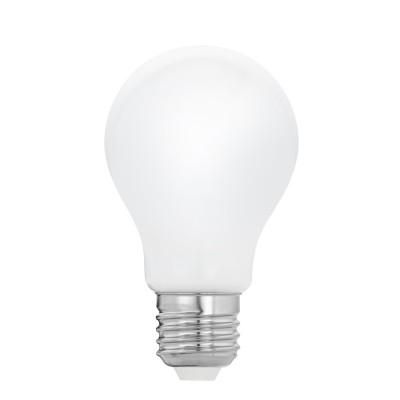 Eglo 11596 Лампа светодиодная филаментная Милки A60 , 8W (E27), 2700K, 806lm, опал. стеклоСтандартный вид<br><br><br>Цветовая t, К: WW - теплый белый 2700-3000 К<br>Тип лампы: LED<br>Тип цоколя: E27<br>Диаметр, мм мм: 60<br>Высота, мм: 105<br>MAX мощность ламп, Вт: 8
