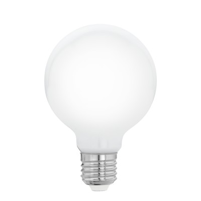 Eglo 11597 Лампа светодиодная филаментная Милки G80 , 5W (E27), 2700K, 470lm, опал. стеклоВ виде шара<br><br><br>Цветовая t, К: 2700<br>Тип лампы: LED<br>Тип цоколя: E27<br>MAX мощность ламп, Вт: 5<br>Диаметр, мм мм: 80<br>Высота, мм: 120
