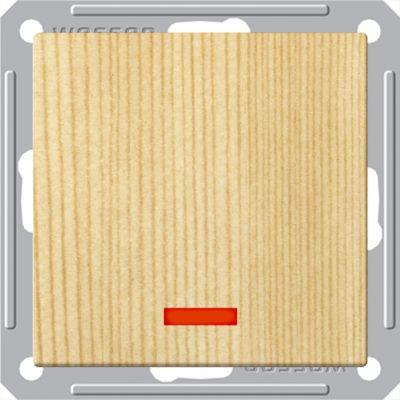 Выключатель Wessen 59 с/у без рамки одноклавишный c индик. сосна (VS116-153-7-86)Сосна<br><br><br>Оттенок (цвет): под дерево