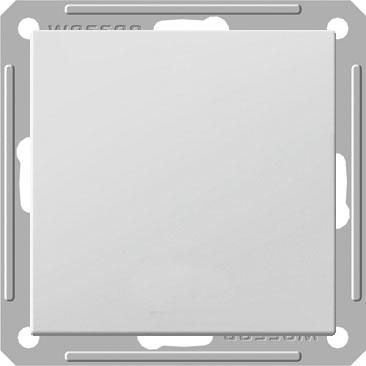 Переключатель Wessen 59 одноклавишный с индикацией белый (VS616-157-1-86)Белый<br>250В, 16АХ, скрытой установки, без рамки<br><br>Оттенок (цвет): белый