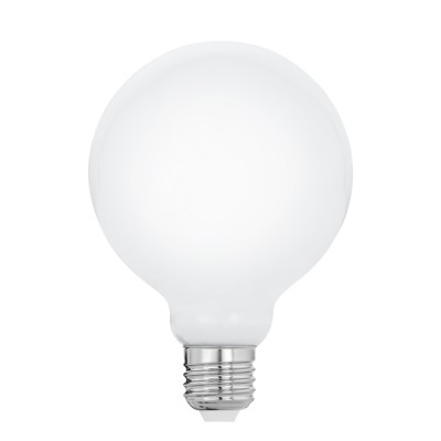 Eglo 11601 Лампа светодиодная филаментная Милки G95, 8W (E27), 2700K, 806lm, опал. стеклоВ виде шара<br><br><br>Цветовая t, К: 2700<br>Тип лампы: LED<br>Тип цоколя: E27<br>MAX мощность ламп, Вт: 8