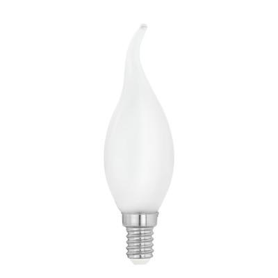 Купить Eglo 11603 Лампа светодиодная филаментная Милки cвеча на ветру, 4W (E14), 2700K, 470lm, опал., Венгрия