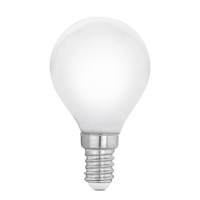 Eglo 11604 Лампа светодиодная филаментная Милки P45, 4W(E14), 2700K, 470lm, опал. стеклоСтандартный вид<br><br><br>Цветовая t, К: 2700<br>Тип лампы: LED<br>Тип цоколя: E14<br>MAX мощность ламп, Вт: 4<br>Диаметр, мм мм: 45<br>Высота, мм: 78