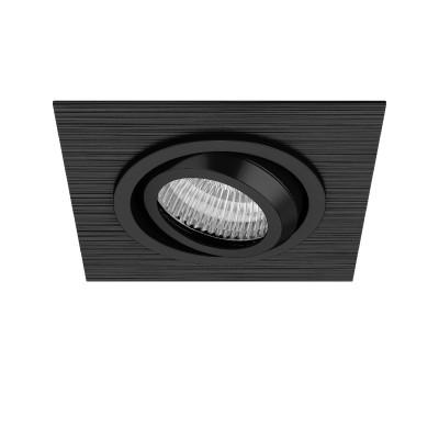 Lightstar SINGO 11621 СветильникКарданные<br><br><br>Тип лампы: галогенная/LED<br>Тип цоколя: MR16<br>Цвет арматуры: черный<br>Количество ламп: 1<br>Ширина, мм: 100<br>Длина, мм: 100<br>MAX мощность ламп, Вт: 50