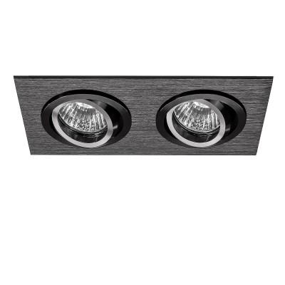 Lightstar SINGO 11622 СветильникКарданные<br><br><br>Тип лампы: галогенная/LED<br>Тип цоколя: MR16<br>Количество ламп: 2<br>Ширина, мм: 100<br>Длина, мм: 190