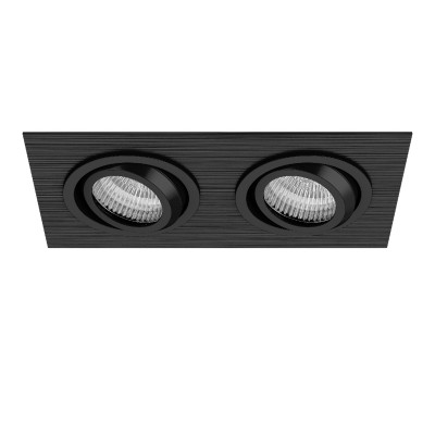 Lightstar SINGO 11622 СветильникКарданные<br><br><br>Тип лампы: галогенная/LED<br>Тип цоколя: MR16<br>Цвет арматуры: черный<br>Количество ламп: 2<br>Ширина, мм: 100<br>Длина, мм: 190<br>MAX мощность ламп, Вт: 50