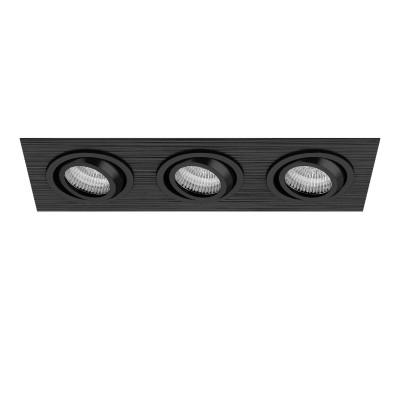 Lightstar SINGO 11623 СветильникКарданные светильники<br><br><br>Тип лампы: галогенная/LED<br>Тип цоколя: MR16<br>Цвет арматуры: черный<br>Количество ламп: 3<br>Ширина, мм: 100<br>Длина, мм: 280<br>Высота, мм: 8<br>MAX мощность ламп, Вт: 50