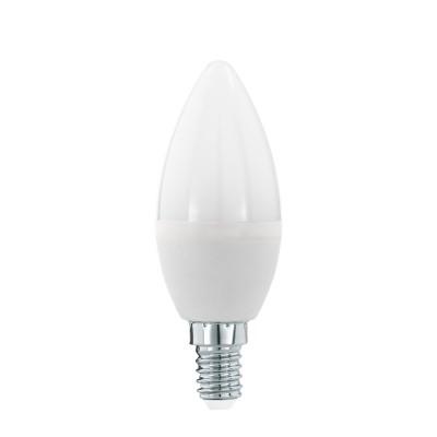 Eglo 11643 Лампа светодиодная Свеча, 5,5W (E14), 3000K, 470lmВ виде свечи<br><br><br>Цветовая t, К: 3000<br>Тип лампы: LED<br>Тип цоколя: E14<br>Диаметр, мм мм: 37<br>Высота, мм: 100<br>MAX мощность ламп, Вт: 5.5
