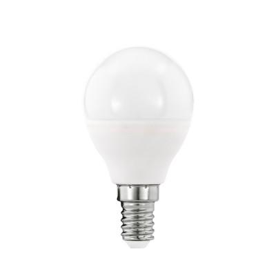 Eglo 11644 Лампа светодиодная P45, 5,5W (Е14), 3000K, 470lmСветодиодные лампы LED с цоколем E27<br><br><br>Цветовая t, К: WW - теплый белый 2700-3000 К<br>Тип лампы: LED<br>Тип цоколя: E14<br>Диаметр, мм мм: 45<br>Высота, мм: 80<br>MAX мощность ламп, Вт: 5.5