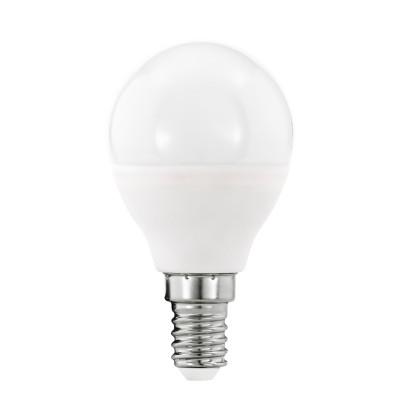 Eglo 11648 Лампа светодиодная диммируемая P45, 5,5W (Е14), 3000K, 470lmСтандартный вид<br><br><br>Цветовая t, К: 3000<br>Тип лампы: LED<br>Тип цоколя: E14<br>MAX мощность ламп, Вт: 5.5<br>Диаметр, мм мм: 45<br>Высота, мм: 81