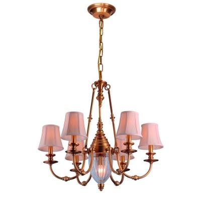Светильник подвесной Divinare 1165/02 LM-6 ArcheoПодвесные<br><br><br>Установка на натяжной потолок: Да<br>S освещ. до, м2: 12<br>Крепление: Крюк<br>Тип товара: Светильник подвесной<br>Тип цоколя: E14<br>Количество ламп: 6<br>MAX мощность ламп, Вт: 40<br>Диаметр, мм мм: 730<br>Длина цепи/провода, мм: 1000<br>Длина, мм: 730<br>Высота, мм: 710<br>Цвет арматуры: бронзовый