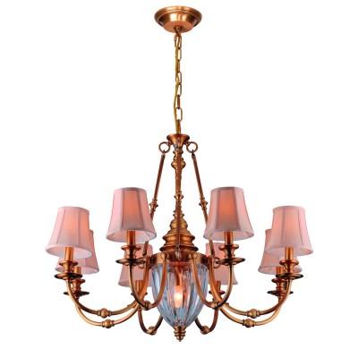 Светильник подвесной Divinare 1165/02 LM-8 ArcheoПодвесные<br><br><br>Установка на натяжной потолок: Да<br>S освещ. до, м2: 16<br>Крепление: Крюк<br>Тип товара: Светильник подвесной<br>Тип цоколя: E14<br>Количество ламп: 8<br>MAX мощность ламп, Вт: 40<br>Диаметр, мм мм: 900<br>Длина цепи/провода, мм: 1000<br>Длина, мм: 900<br>Высота, мм: 710<br>Цвет арматуры: бронзовый
