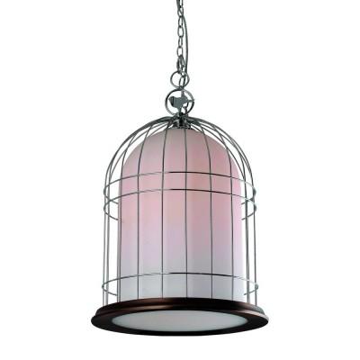 Светильник подвесной Divinare 1166/01 SP-1 GabbiataПодвесные<br><br><br>Установка на натяжной потолок: Да<br>S освещ. до, м2: 1<br>Крепление: Крюк<br>Тип товара: Светильник подвесной<br>Скидка, %: 19<br>Тип цоколя: E14<br>Количество ламп: 1<br>MAX мощность ламп, Вт: 40<br>Диаметр, мм мм: 340<br>Длина цепи/провода, мм: 1000<br>Длина, мм: 340<br>Высота, мм: 540<br>Цвет арматуры: серебристый