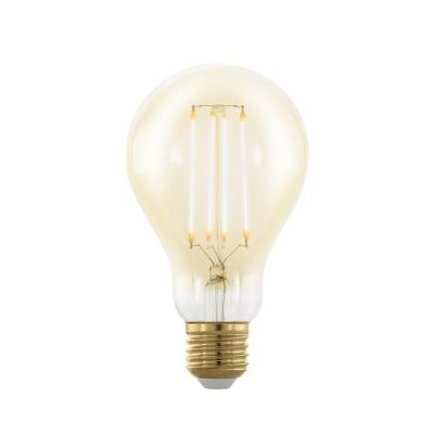 EGLO ИС 11691 Лампа светодиодная филаментная диммируемая A75, 4W (E27), 1700K, 320lm, золотаяСтандартный вид<br><br><br>Цветовая t, К: WW - теплый белый 2700-3000 К (1700)<br>Тип лампы: LED<br>Тип цоколя: E27<br>Диаметр, мм мм: 75<br>Высота, мм: 133<br>MAX мощность ламп, Вт: 4