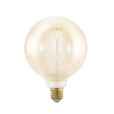 EGLO ИС 11694 Лампа светодиодная филаментная диммируемая G125, 4W (E27), 1700K, 320lm, золотаяВ виде шара<br><br><br>Цветовая t, К: 1700<br>Тип лампы: LED<br>Тип цоколя: E27<br>MAX мощность ламп, Вт: 4<br>Диаметр, мм мм: 125<br>Высота, мм: 167